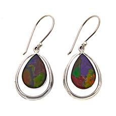 Jay King Pear-Shaped Mosaic Ammolite Drop Sterling Silver Earrings