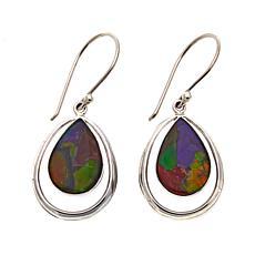 Jay King Pear-Shaped Mosaic Ammolite Drop Sterling Silver Earrings