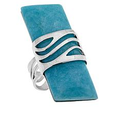Jay King Peruvian Amazonite Cut-Out Overlay Sterling Silver Ring