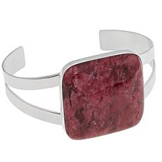 Jay King Pink Thulite Sterling Silver Cuff Bracelet