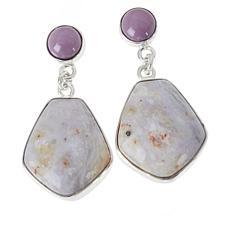 Jay King Purple Phosphosiderite and Jalisco Lavender Opal Earrings