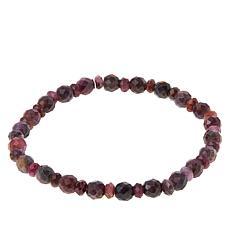 Jay King Raspberry Sapphire Bead Stretch Bracelet
