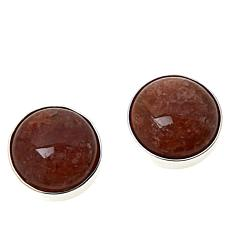 Jay King Raspberry Sunstone Stud Earrings