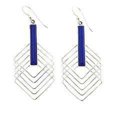 Jay King Rectangular Lapis Drop Sterling Silver Earrings