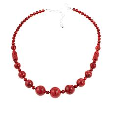 "Jay King Red Coral Bead 20-1/4"" Necklace"