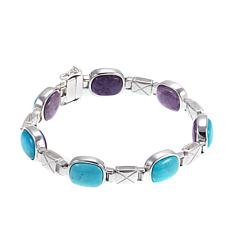 Jay King Reversible Turquoise and Purple Charoite Bracelet - S/M