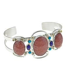 Jay King Rhodochrosite, Lapis and Turquoise Cuff Bracelet
