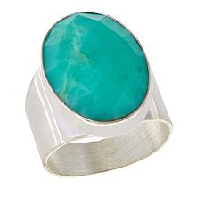 Jay King Serbian Green Opal Sterling Silver Ring