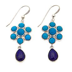 Jay King Seven Peaks Turquoise and Lapis Sterling Silver Earrings
