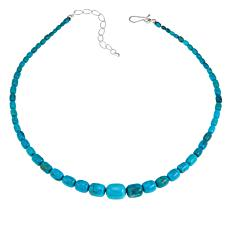 "Jay King Seven Peaks Turquoise Sterling Silver 18"" Necklace"