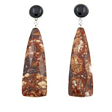 Jay King Shitake Stone and Black Agate Drop Earrings
