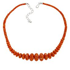 Jay King Spiny Oyster Shell Composite Graduated Bead Necklace