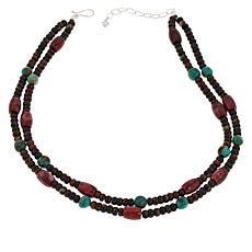 Jay King Sterling Silver 2-Strand Multi-Gemstone Necklace