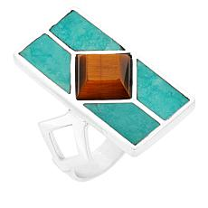 Jay King Sterling Silver Alicia Turquoise and Tiger's Eye Ring