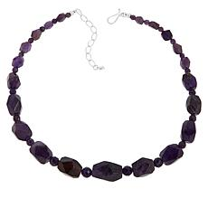 Jay King Sterling Silver Amethyst Bead Necklace
