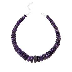 Jay King Sterling Silver Amethyst Graduated Bead Necklace