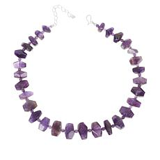 Jay King Sterling Silver Amethyst Nugget Necklace