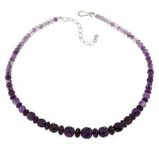 Jay King Sterling Silver Amethyst Ombré Effect Bead Necklace