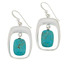 Jay King Sterling Silver Andean Turquoise Drop Earrings