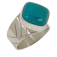 Jay King Sterling Silver Angel Peak Turquoise Cushion-Cut Ring