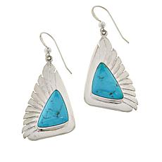 Jay King Sterling Silver Azure Peak Turquoise Triangular Drop Earrings