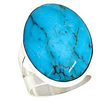 Jay King Sterling Silver Azure Peaks Oval Turquoise Ring