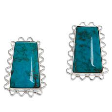 Jay King Sterling Silver Azure Peaks Turquoise Earrings