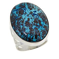 Jay King Sterling Silver Blue Forest Stone Oval Ring