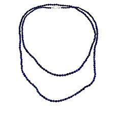 "Jay King Sterling Silver Blue Lapis 60"" Beaded Necklace"