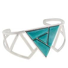 Jay King Sterling Silver Campitos Turquoise Cuff
