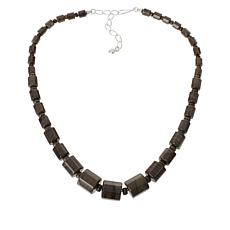Jay King Sterling Silver Chestnut Stone Necklace