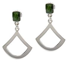 Jay King Sterling Silver Chrome Diopside Open Drop Earrings