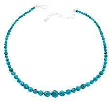 Jay King Sterling Silver Cloudy Mountain Turquoise Beaded Necklace