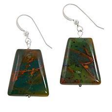 Jay King Sterling Silver Colorful Forest Jasper Earrings