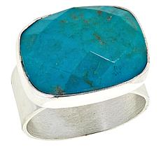 Jay King Sterling Silver Cushion-Cut Azure Peaks Turquoise Ring
