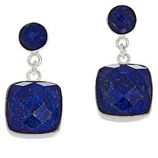 Jay King Sterling Silver Cushion-Cut Gemstone Drop Earrings