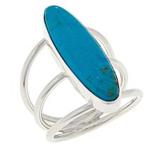 Jay King Sterling Silver Elongated Oval Gemstone Ring