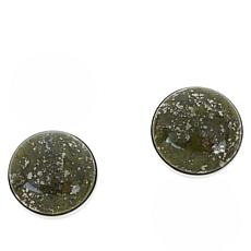 Jay King Sterling Silver Forest Night Green Epidote Earrings