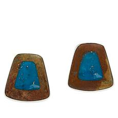 Jay King Sterling Silver Framed Turquoise Earrings