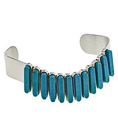 Jay King Sterling Silver Freeform Sonoran Turquoise Cuff