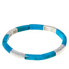 Jay King Sterling Silver Gemstone Stretch Bangle Bracelet