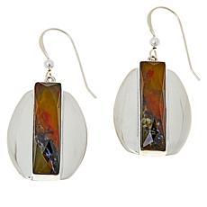 Jay King Sterling Silver Green Goddess Opal Earrings