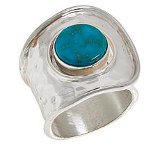 Jay King Sterling Silver Kingman Turquoise Hammered Bypass Ring