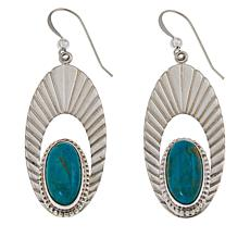 Jay King Sterling Silver Kingman Turquoise Oval Drop Earrings