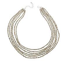 Jay King Sterling Silver Labradorite Bead 6-Strand Necklace