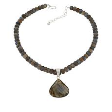 Jay King Sterling Silver Labradorite Pear-Shape Pendant with Necklace