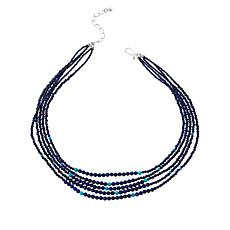 Jay King Sterling Silver Lapis and Turquoise Bead Layered Necklace