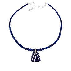 Jay King Sterling Silver Lapis Inlay Pendant with Necklace