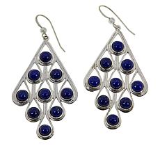 Jay King Sterling Silver Lapis Multi-Stone Drop Earrings