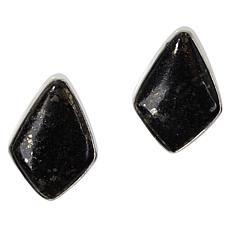 Jay King Sterling Silver Magnetite/Pyrite Earrings